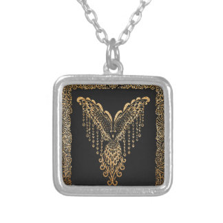 Corbeau d'or collier