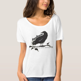 """corbeau """"étreinte de #goodhuman vos potentiels """" t-shirt"""