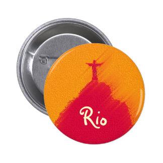 Corcovado rouge Rio-Brésil Pin's