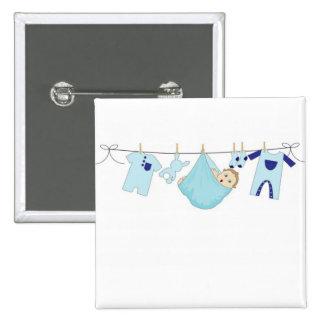 Corde à linge de bébé badge carré 5 cm