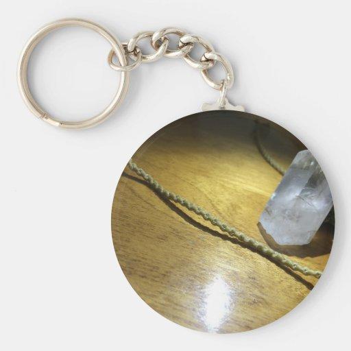 corde et pierre porte-clés