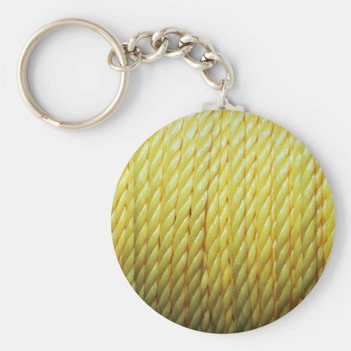 Corde jaune porte-clef