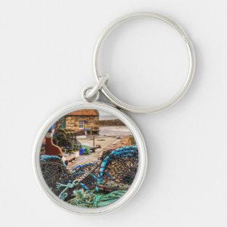 Cordes et pots de homard | Pittenweem, Ecosse Porte-clé Rond Argenté