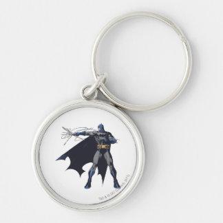 Cordes folles de Batman Porte-clé Rond Argenté