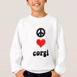 Corgi d'amour de paix sweatshirt