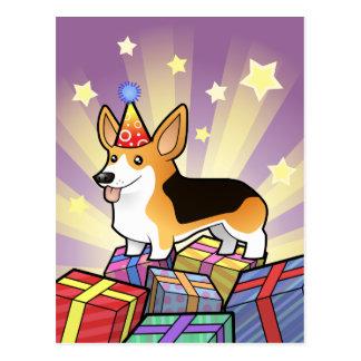 Corgi de Gallois de Pembroke d'anniversaire Carte Postale
