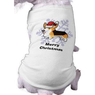 Corgi de Gallois de Pembroke de Noël T-shirt Pour Chien