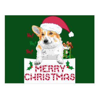 Corgi de Noël Cartes Postales