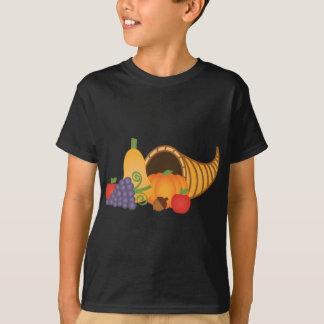 Corne d'abondance avec des couleurs riches t-shirt