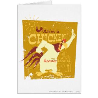 Corne de brume Ah'm un poulet Carte De Vœux