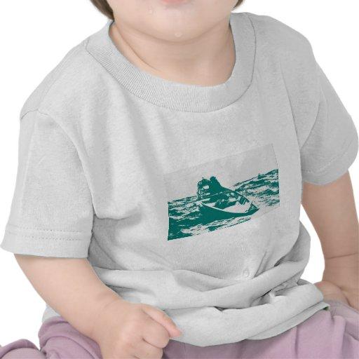Corne de brume bleue de Winslow Homer de bateau T-shirts