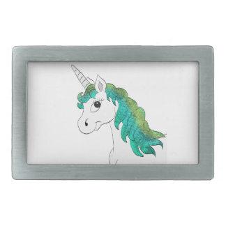 Corne une Unicorn Boucles De Ceinture Rectangulaires