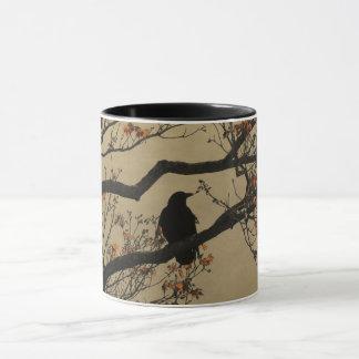 Corneille dans l'arbre mugs