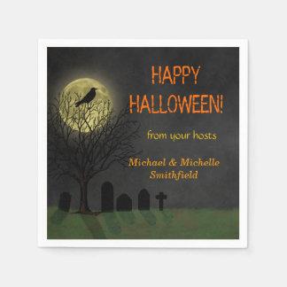 Corneille de Halloween sur l'arbre avec la partie Serviettes Jetables