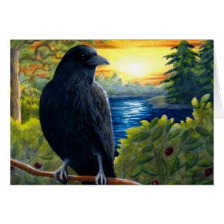 Corneille de l'oiseau 63 carte de vœux