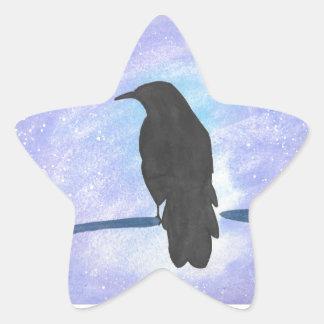 Corneille d'observation des étoiles sticker étoile