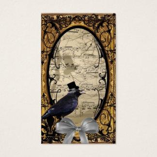 Corneille gothique vintage drôle de mariage cartes de visite