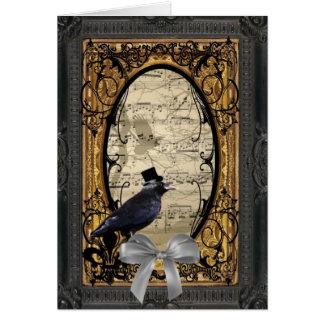 Corneille gothique vintage drôle de mariage cartes de vœux