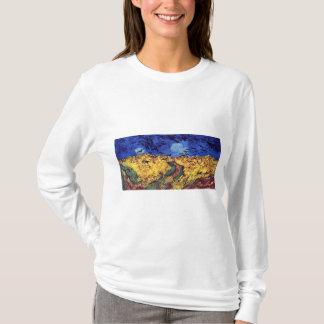Corneilles au-dessus de Wheatfield par Vincent van T-shirt