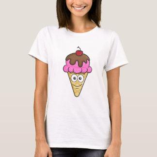 Cornet de crème glacée Emoji T-shirt