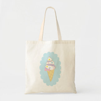 Cornet de crème glacée mignon de remous sac de toile