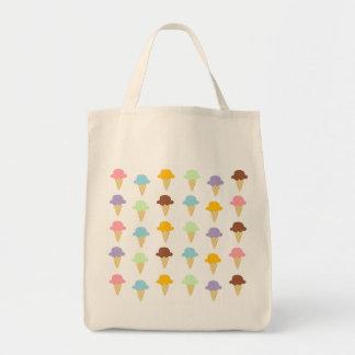 Cornets de crème glacée colorés sac de toile
