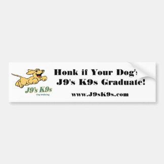 Cornez si un J9 K9s Stic de butoir licencié de vot Autocollant De Voiture