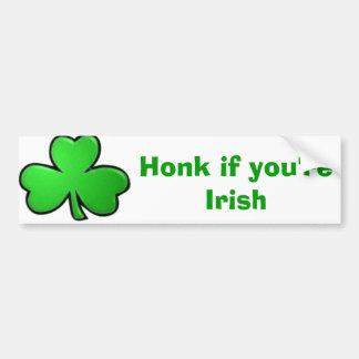 Cornez si vous êtes irlandais autocollant de voiture