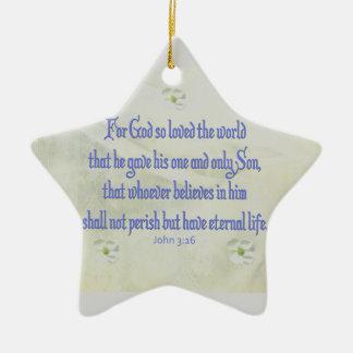 Cornouiller de John 316 Ornement Étoile En Céramique