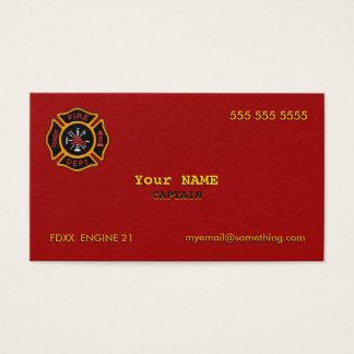 Corps de sapeurs-pompiers cartes de visite