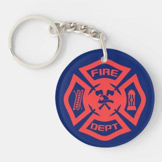 Corps de sapeurs-pompiers porte-clefs