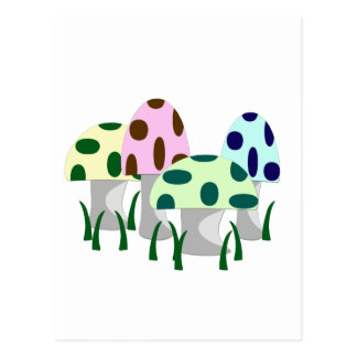 Correction de champignon carte postale