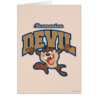 Correction de diable tasmanien de TAZ™ Carte De Vœux