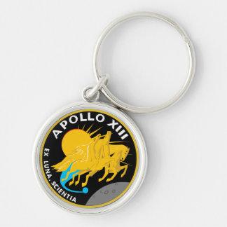 Correction de mission d'Apollo 13 Porte-clé Rond Argenté