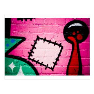 Correction et sucette de graffiti carte postale
