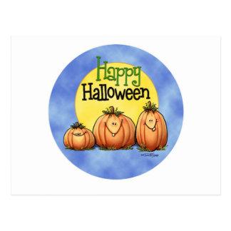 Correction heureuse de citrouille de Halloween Carte Postale