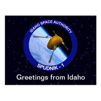 Correction satellite de mission de l'Idaho Spudnik Carte Postale