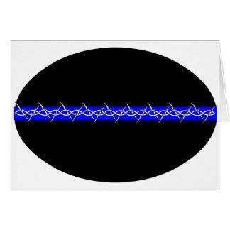 Corrections barbelées de Blue Line Carte De Vœux