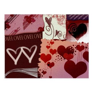 Corrections de coeur carte postale