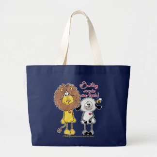 Corrections de coeur de lion et d'agneau grand tote bag