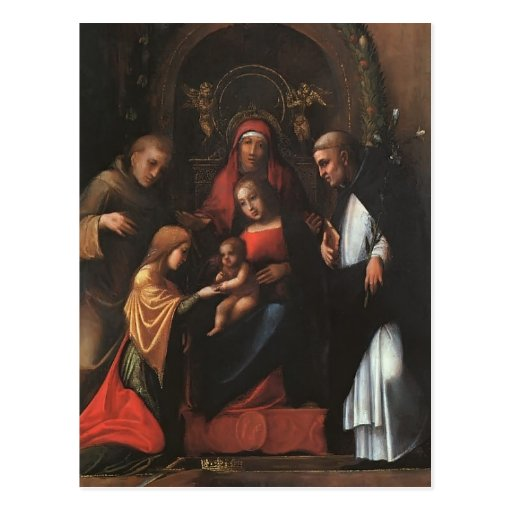 Correggio- le mariage mystique de St Catherine Carte Postale