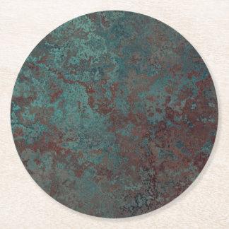 Corrosion dessous de verre de papier d'impression dessous-de-verre rond en papier