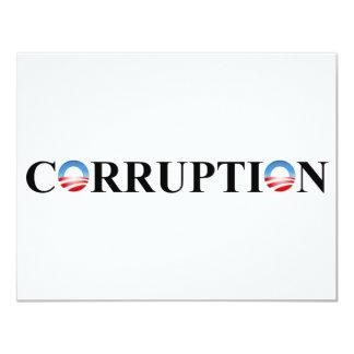 CORRUPTION CARTON D'INVITATION 10,79 CM X 13,97 CM