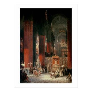 Cortège dans la cathédrale de Séville, 1833 (huile Cartes Postales