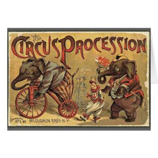 Cortège de cirque, 1888, cru carte de vœux