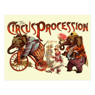 Cortège de cirque cartes postales
