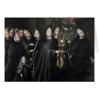 Cortège de St Clare avec l'eucharistie Carte De Vœux