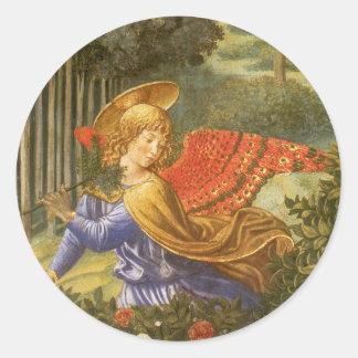 Cortège des Magi, art d'ange de la Renaissance Sticker Rond