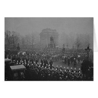 Cortège funèbre de la Reine Victoria Carte De Vœux