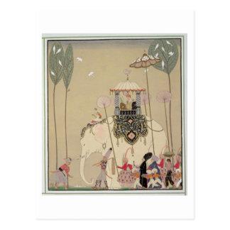 Cortège impérial (litho de couleur) carte postale